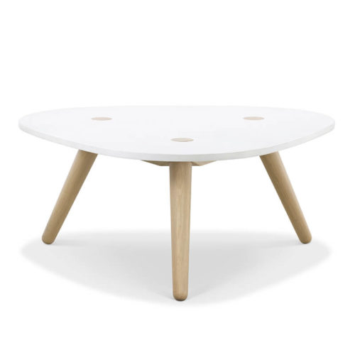 Creto Coffee table natural solid oak white MDF cement top front 500x500 - Furniture