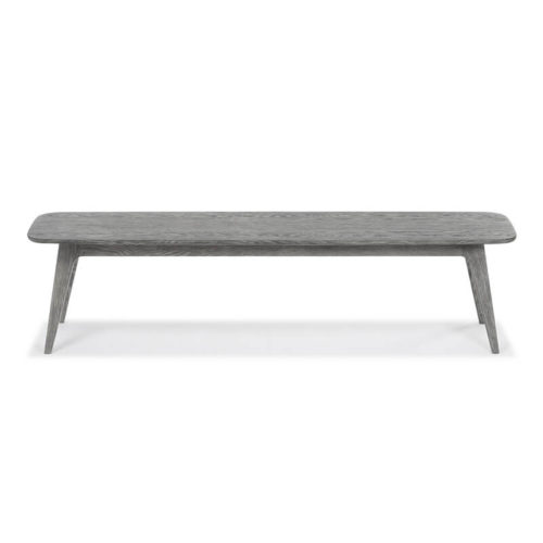 Miami Bench light grey oak stain front 500x500 - Myron Large Bench