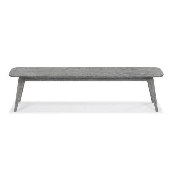 Miami Bench light grey oak stain front 600x600 - Myron Large Bench